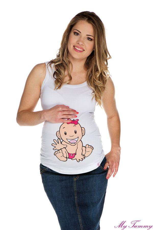 Koszulka ciążowa na ramiączkach Dziewczynka II