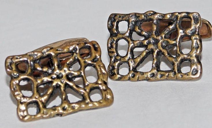 PENTTI SARPANEVA, FINLAND. Bronze Cufflinks. VINTAGE, OLD AND RARE ITEM. | eBay