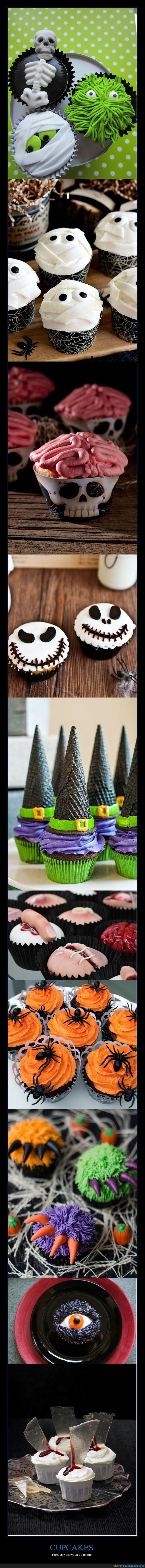 Cupcakes para un Halloween de miedo.