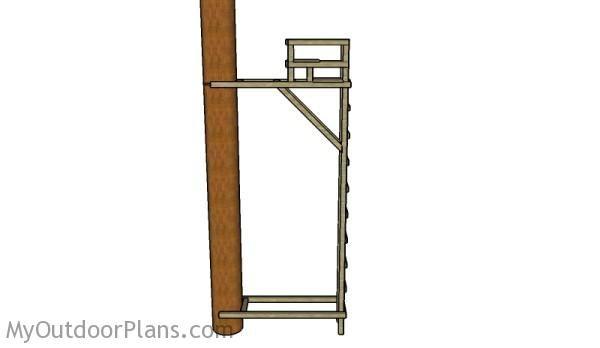 Tree deer stand plans deer blind plans pinterest for Ladder tree stand plans