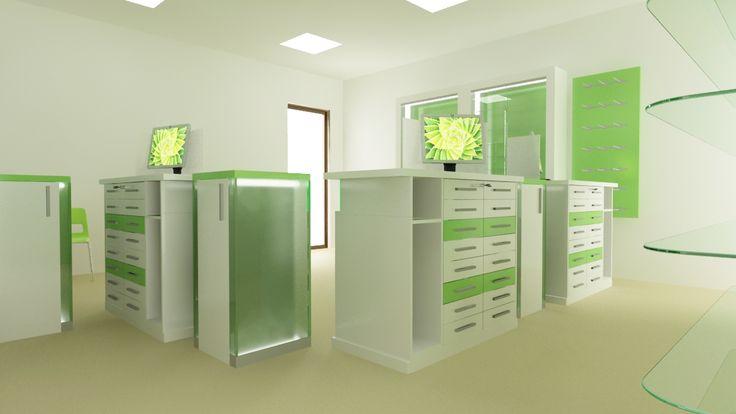 Amenajare farmacie - counter sertare  http://www.sertarefarmacii.ro/