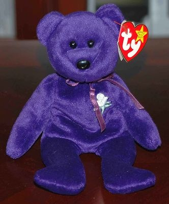 RARE 1997 TY PRINCESS DIANA PURPLE BEANIE BABY - I have her!
