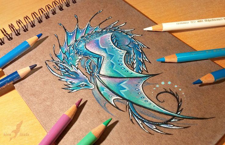Lunar water dragon by AlviaAlcedo.deviantart.com on @deviantART #dragon #tattoos #tattoo