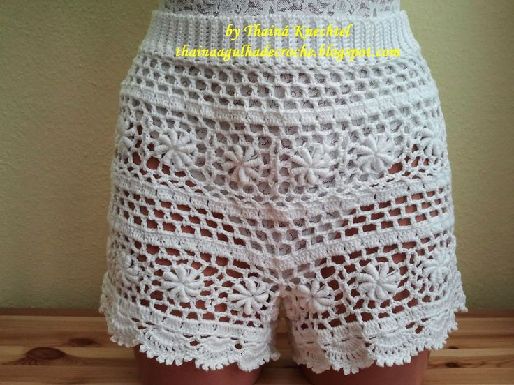 Thainá Agulha de Crochê: Short em crochê / Gehäkelte shorts