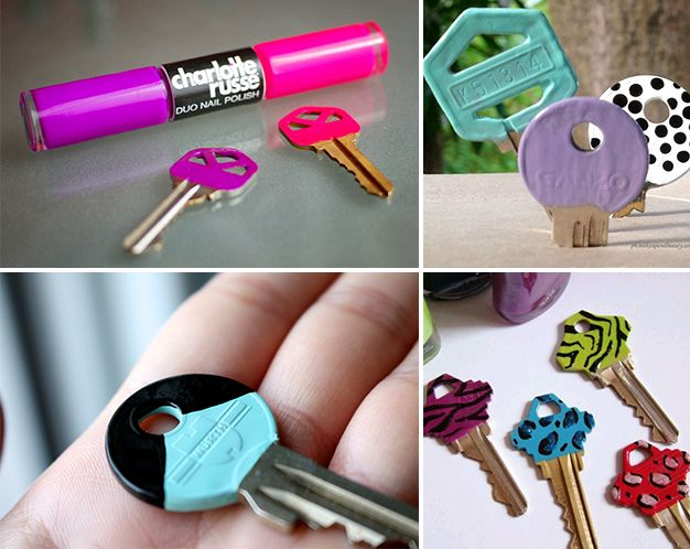 Diy painting keys with nail polish and how to make it for Nail polish diy projects