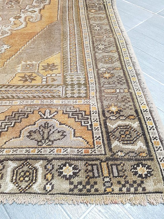Oushak Rug Turkish Bohemian Area 4 0 X 7 1 Ft Vintage Faded Anatolian Floor Free Shipping Welcome To Unique
