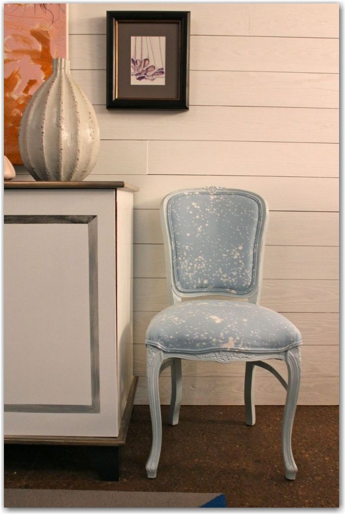 DIY Bleached Upholstery via The Painted House