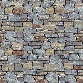 Textures Texture seamless | Wall cladding stone mixed size seamless 07990 | Textures - ARCHITECTURE - STONES WALLS - Claddings stone - Exterior | Sketchuptexture