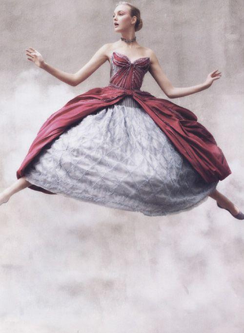"Caroline Trentini in ""Flights of Fancy"" by Arthur Elgort for Vogue US September 2008"