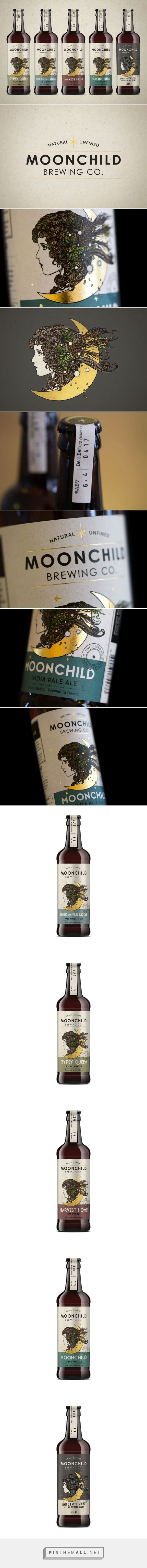 Moonchild Brewing Co. Craft Beer label design by Kingdom & Sparrow (UK) - http://www.packagingoftheworld.com/2016/08/moonchild-brewing-co-craft-beer.html