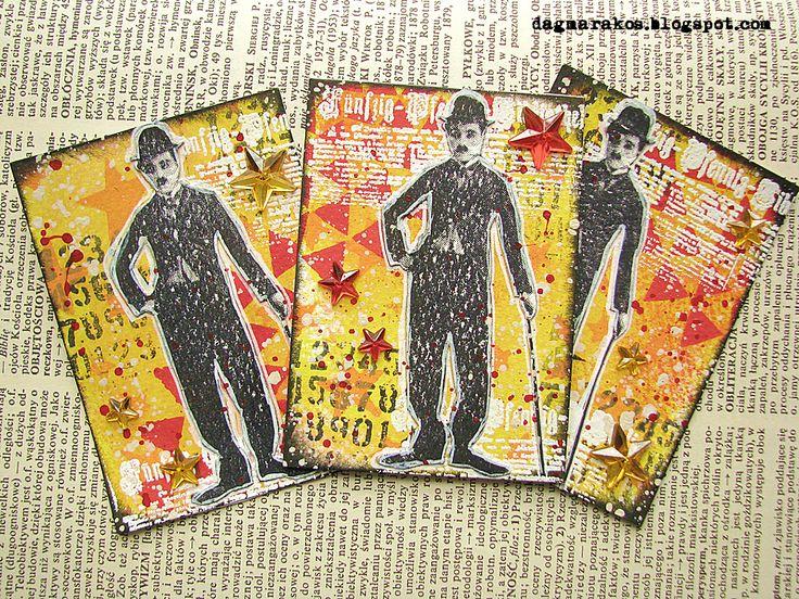 Dagmara Kos Artistic Trading Cards, ATC, mixedmedia, Prima Marketing, Ranger, Dylusions Paint, The Crafter's Workshop, Kaisercraft