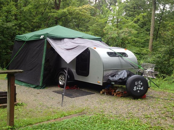 Side Canopy And Rear Screen Room For Teardrop Trailer