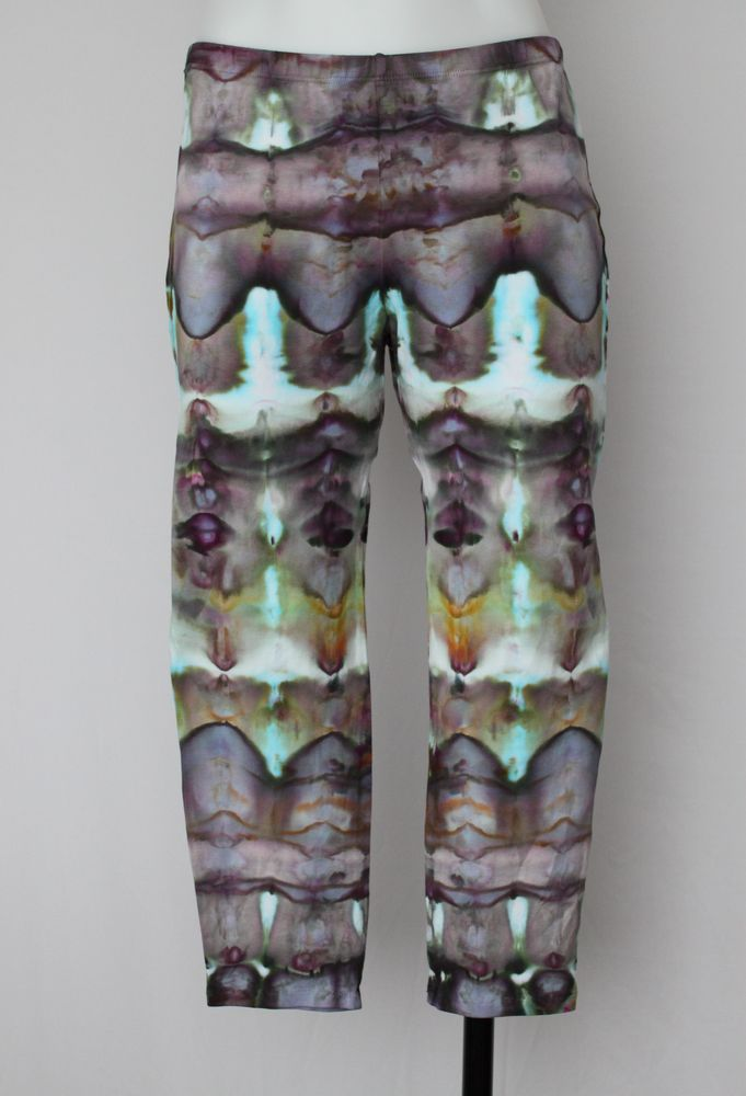 Tie dye Capri Leggings - size medium - Chaotic Adventure stained glass by A Spoonful of Colors Find this item on https://aspoonfulofcolors.com