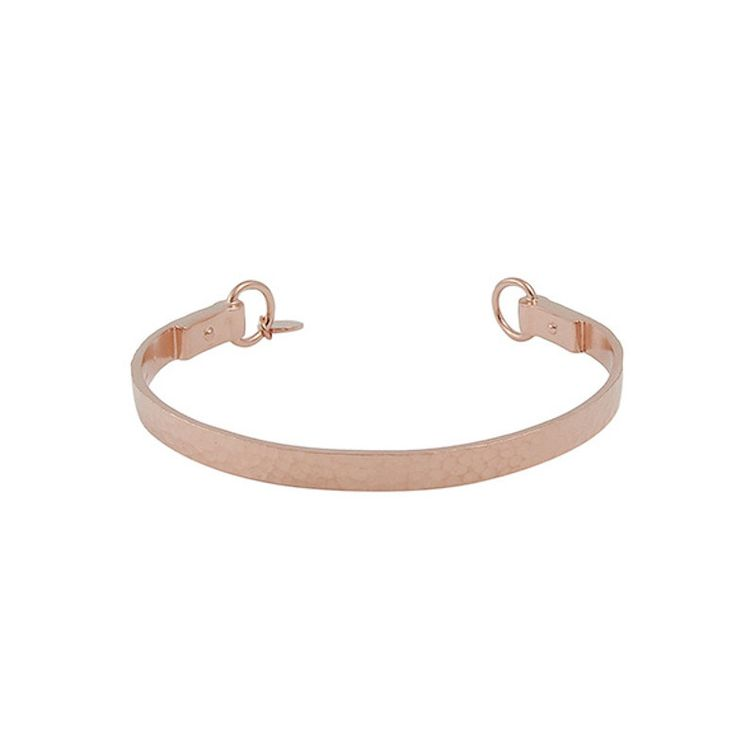 Nicole Fendel Willow Hammered Cuff - Rose Gold