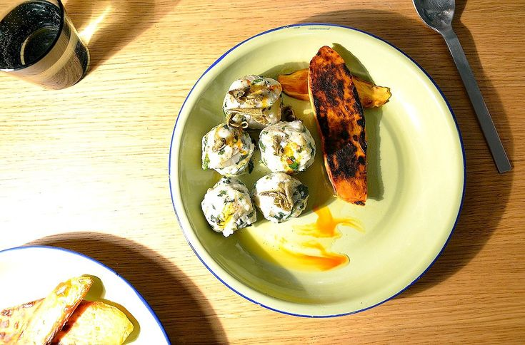 Malfetti, italian dumpling with fresh herbs and chards