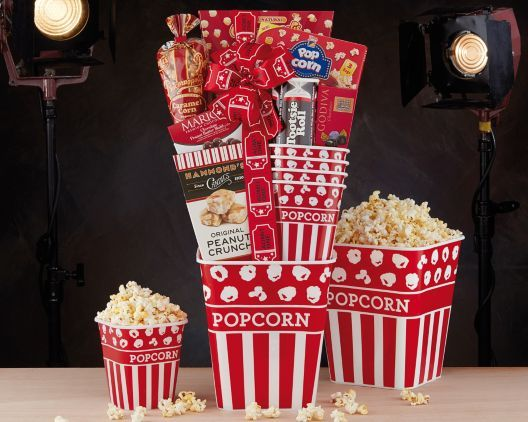 Family Movie Night Popcorn and Sweets at Wine Country Gift Baskets