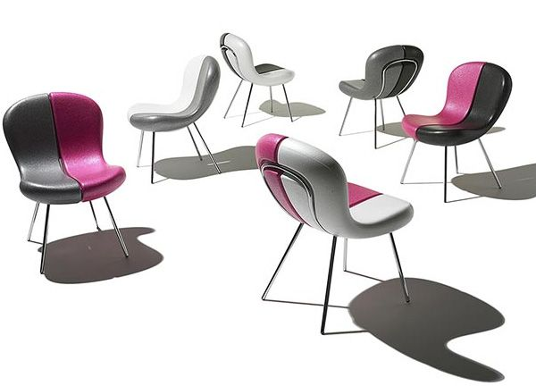 Funky Chair Designs with Removable Seats - 'Snap' chairs by Karim Rashid from Feek