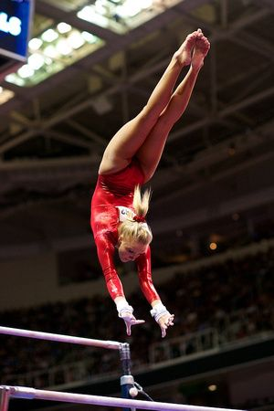 Nastia Liukin at the 2012 Olympic trials in the routine that she fell and ruined her comeback chances :(