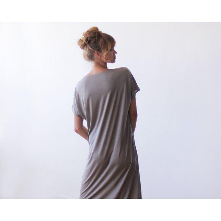 T-shirt taupe midi length dress SALE