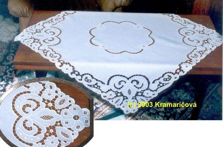Bordadas à mão toalha de mesa estilo richelieu