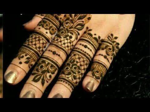 Fingers Mehndi Design/Simple Finger Mehndi Design - YouTube