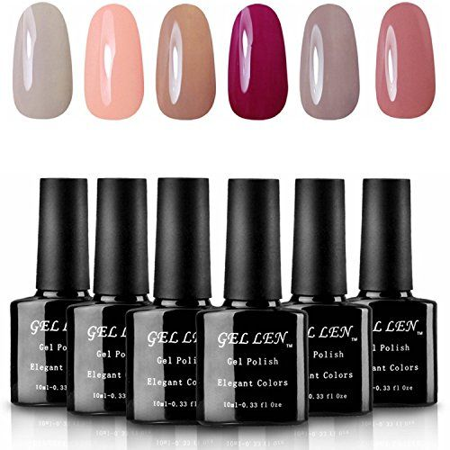 Gellen Soak Off UV LED Gel Nail Polish Pastel Colors Gift Set  10ml Each  6 bottles >>> To view further for this item, visit the image link.