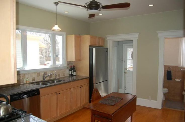 kitchen paint colors with maple cabinets | tried to get a yellow