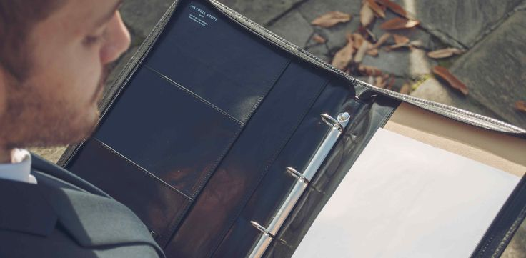 The Veroli - Luxury Leather Ring Binder Folder (fits A4)