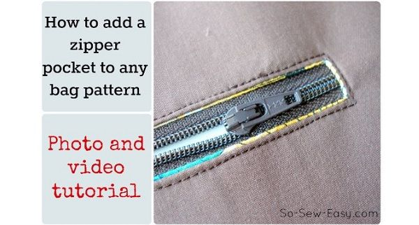 Tutorial: Add a zippered pocket to a purse pattern - Sewing