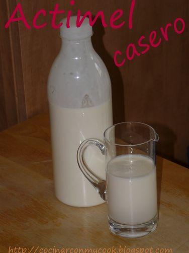 Una deliciosa receta de Actimel Casero para #Mycook http://www.mycook.es/receta/actimel-casero/