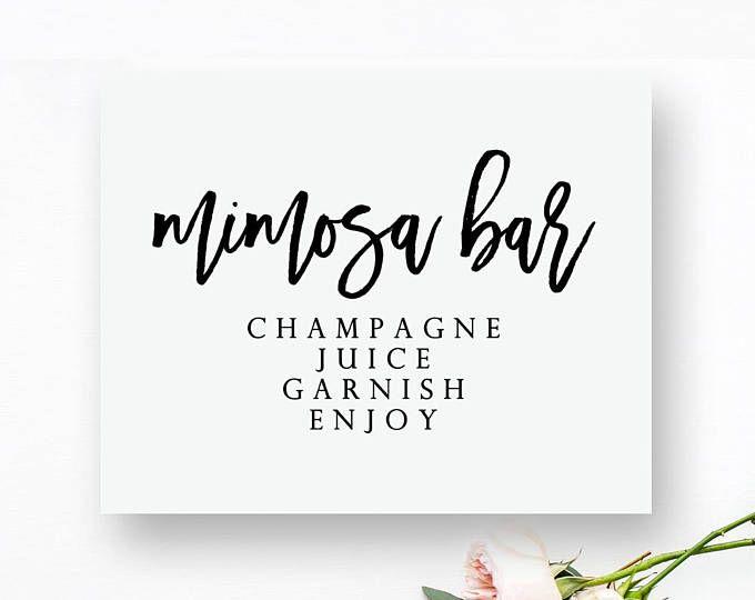 Printable Mimosa Bar Sign Mimosa Bar Printable Mimosa Bar Wedding Sign Printable Bar Sign Bar Prin Wedding Bar Sign Wedding Favours Sign Wedding Printables