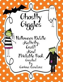 This packet contains 3 different Halloween Riddle activities.  The first is a riddle and answer activity that can be used for a center or as a whole class game like I Have, Who Has? You can copy them onto regular paper or tagboard, cut out and laminate for durability. I chose to create them in color and black and white to save on colored ink. There are worksheets provided to write the answers to the riddles.  The second item is a printable book with Halloween riddles for kids to read and…