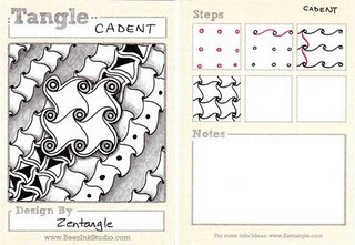 Cadent tangle...a bit trickier, but the step-by-step is easy to follow...from beezinthebelfry...