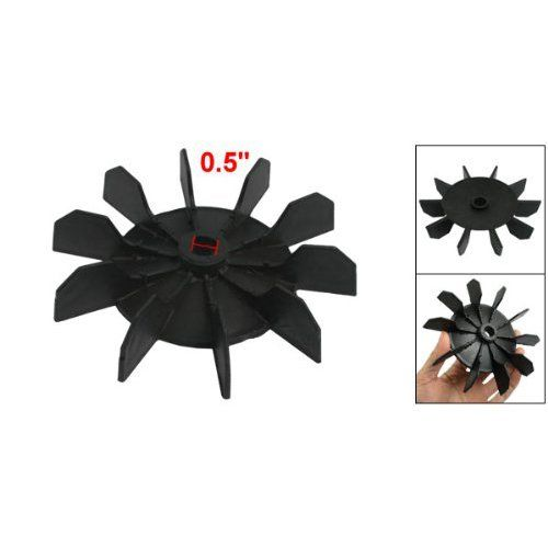 """TOOGOO(R) Replacement 0.5″ Inner Bore 10 Impeller Air Compressor Motor Fan Blade Black  TOOGOO(R) Replacement 0.5"""" Inner Bore 10 Impeller Air Compressor Motor Fan Blade Black  * TOOGOO is a registered trademark. ONLY Authorized seller of TOOGOO can sell under TOOGOO listings.   TOOGOO(R) Replacement 0.5"""" Inner Bore 10 Impeller Air Compressor Motor Fan Blade Black. It features ten blades to increase cooling system efficiency. This fan blade replaces the stock plastic fan and prevents .."""