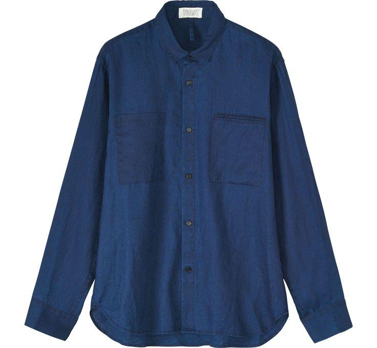 Men's Indigo Linen Shirt | TOAST