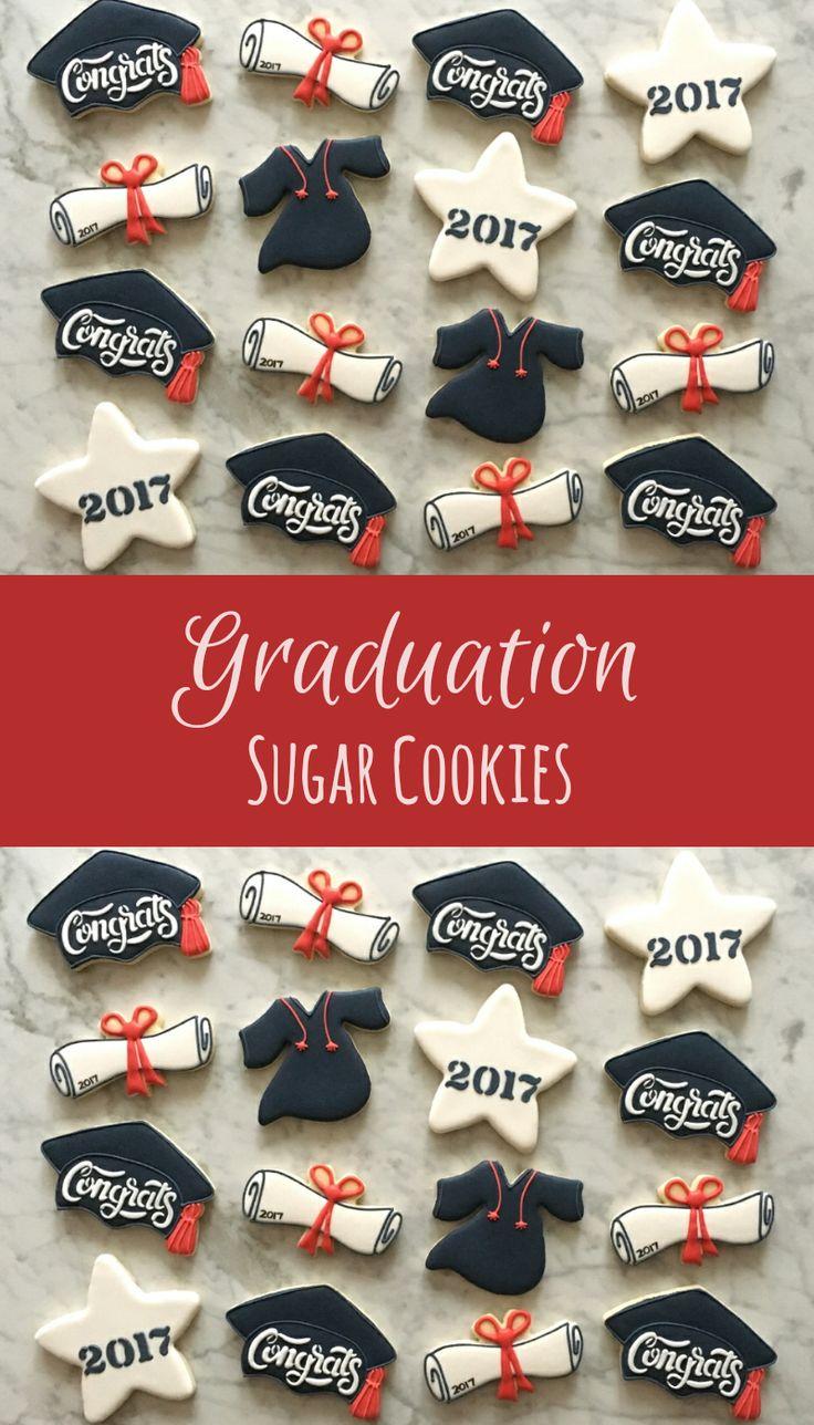 Graduation Sugar Cookies Party Favors Gift Ideas #affiliate