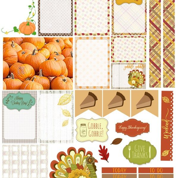 Free Thanksgiving Happy Planner Sticker Sampler {store checkout required}