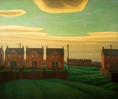 Eight Red Houses, by Lawren S. Harris
