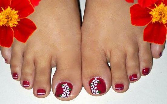 Decoraciones de uñas bonitas para pies