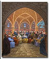 """Pastor Benny Hinn commissioned this beautiful painting of one of the church's most historic moments. This 24"""" X 30"""" art print is available exclusively to Benny Hinn Ministry partners and friends and ready for framing. Perfect for your home, office, and church, it will inspire you to believe God for a fresh Pentecost in your life. Request this remarkable art print today! http://www.bennyhinn.org/products/768/portrait-of-pentecost"""