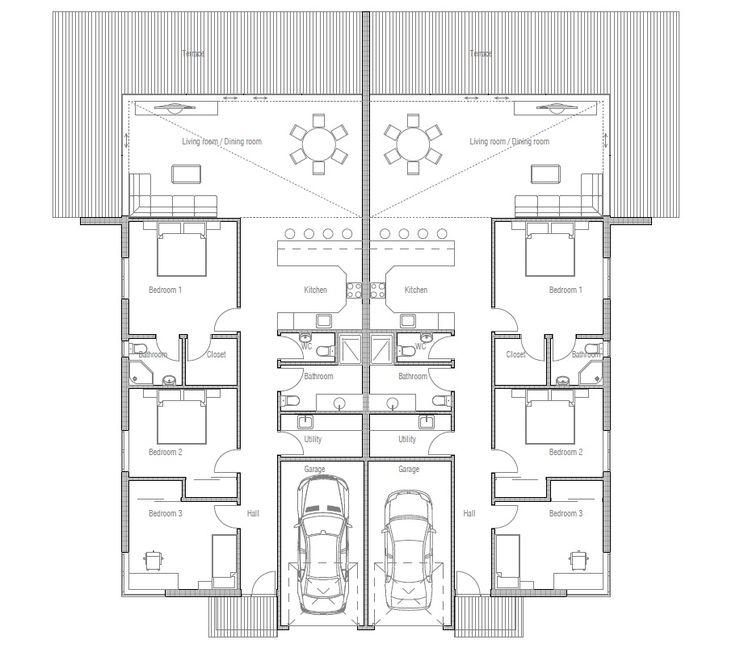6be7aba2e36220f0b8524103c71c622a duplex plans duplex house 17 best images about condos and duplexes on pinterest,Semi Duplex House Plans