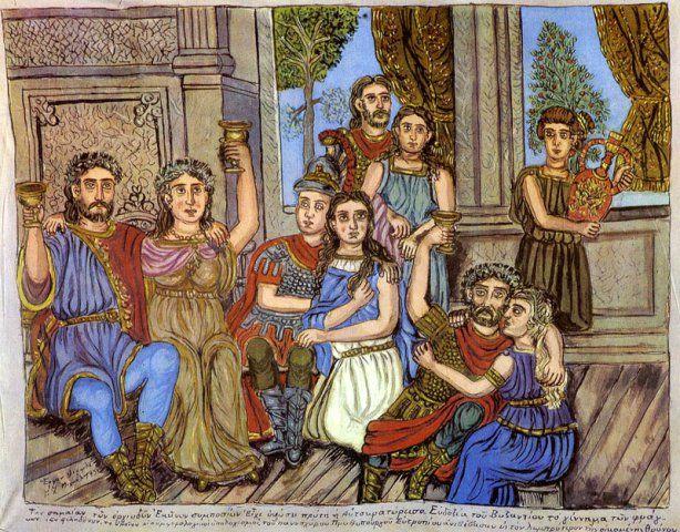 Νέος φόρεσε μια φουστανέλα και έκτοτε δεν την έβγαλε ποτέ. Ο Θεόφιλος γεννήθηκε το 1867 στη Βαριά της Μυτιλήνης. Το επώνυμο δημιουργήθηκε όταν ένας πρόγονός του, ίσως ο παππούς του που λεγόταν Μιχάλης, επισκεπτόμενος τους Αγίους Τόπους έγινε Χατζής, και συνεπώς ονομάστηκε Χατζημιχάλης. Ύστερα μεταγράφηκε στην καθαρεύουσα σαν Χατζημιχαήλ.