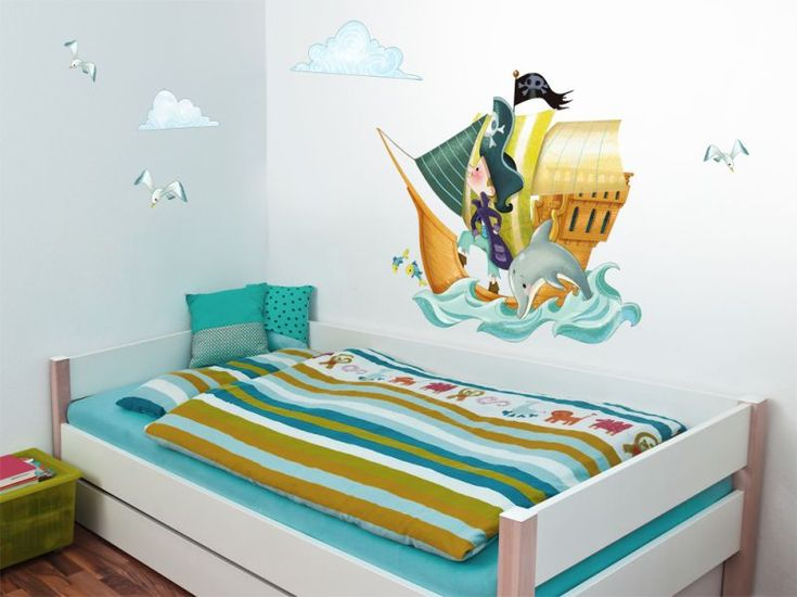 Sticker Playground Bateau pirate 110x70 - Acte deco