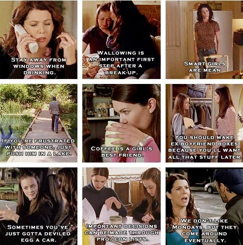 Lessons learned from Gilmore Girls