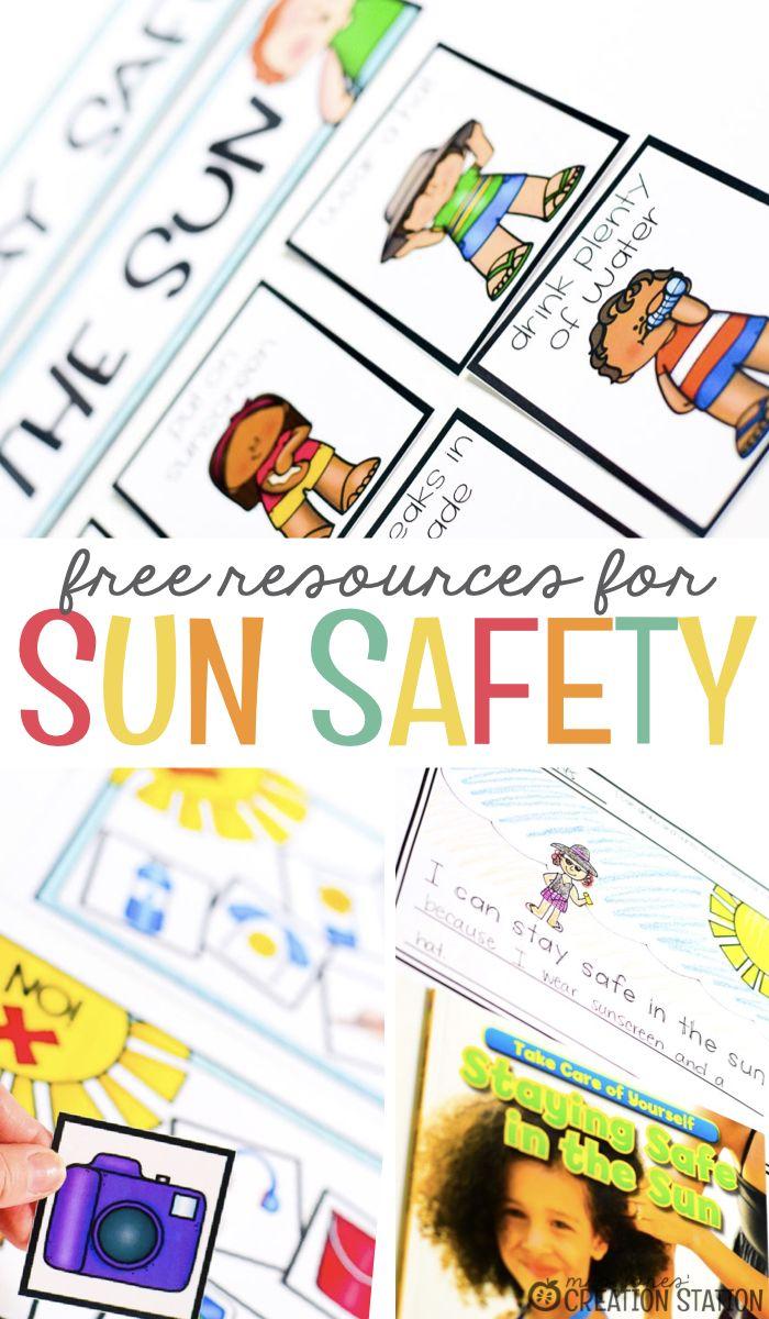 Sun Safety Activities Mrs Jones Creation Station Sun Safety Activities Summer Preschool Activities Summer Safety Activities [ 1200 x 700 Pixel ]