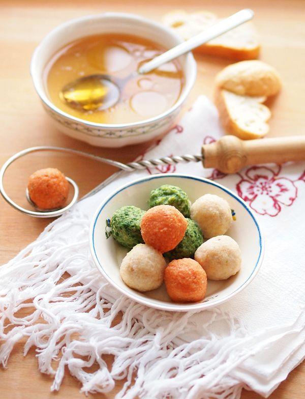 Suppe mit bunten Knöderln-amicella