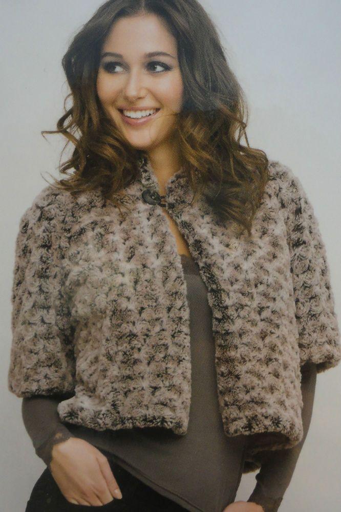 Pellicciotto pelliccia sintetica bolero coprispalle Lise Charmel shop 2016 donna