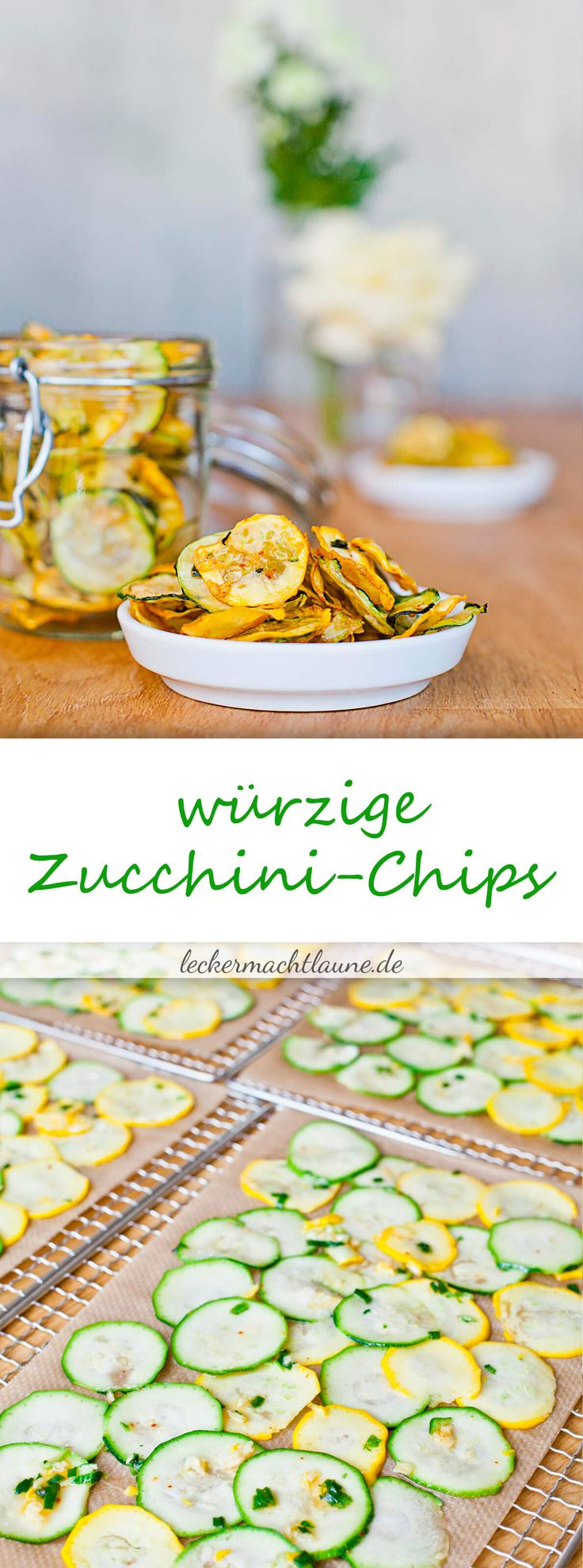 Zucchini-Chips: eine gesunde Alternative zu Kartoffelchips, die nicht nur mithalten kann, sondern sogar noch besser schmeckt. :)