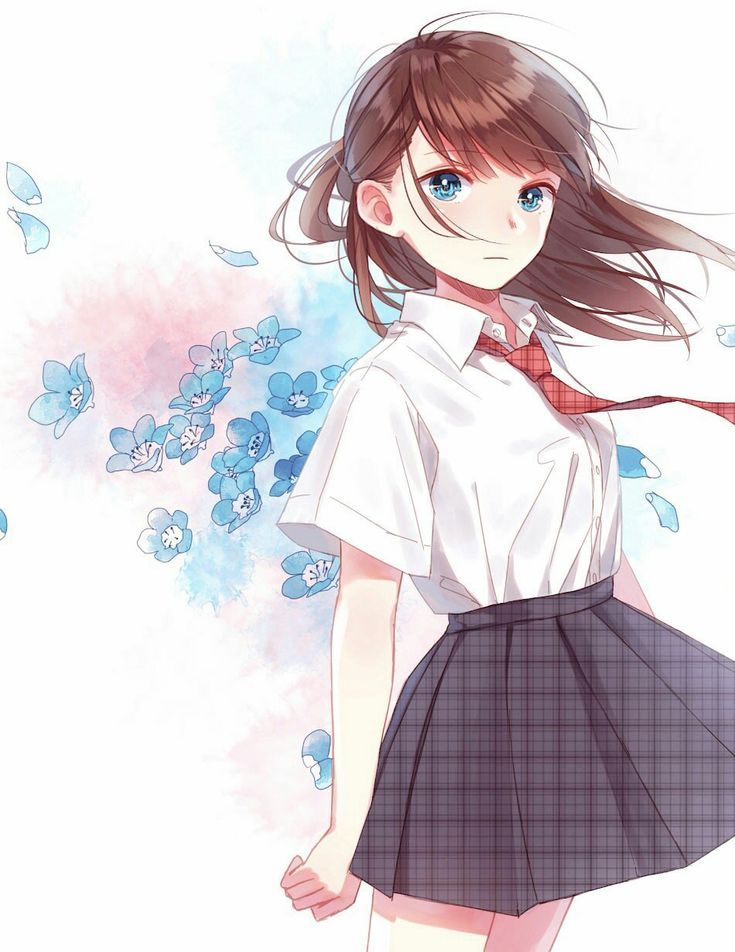 Красивые картинки аниме девушек в школьной форме