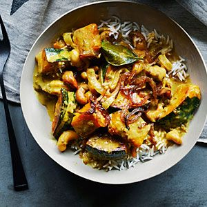 Curry cashew coconut and squash.